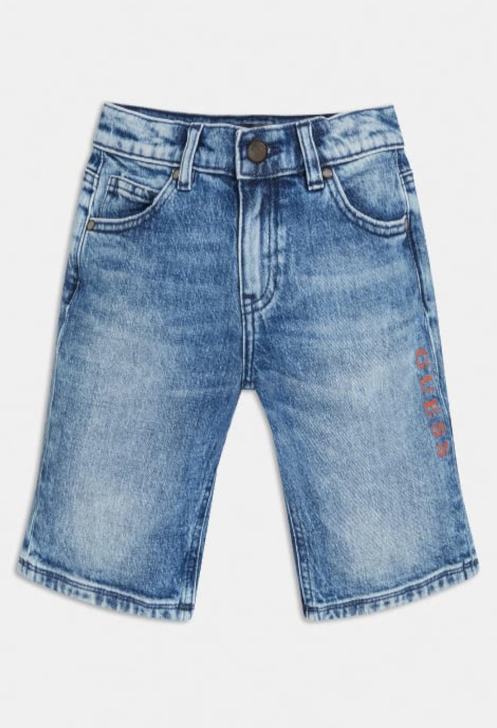 short in denim stampa frontale GUESS kids | Pantaloni | L1RD05D4AC0SDGW