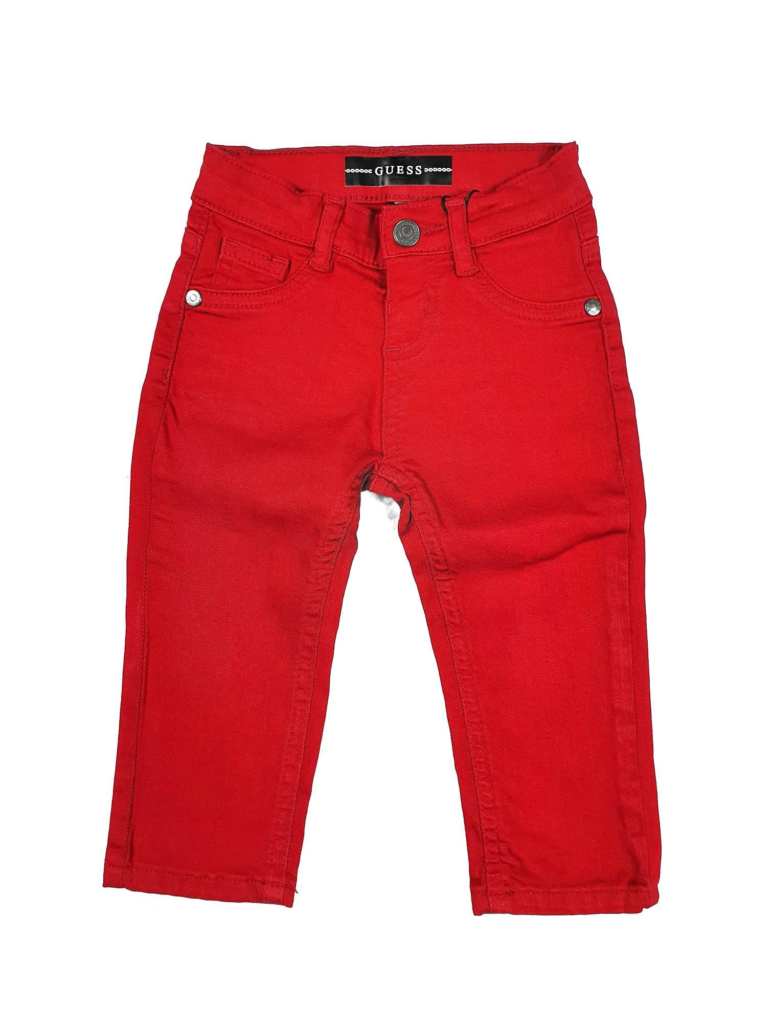 PANTALONE MODELLO 5 TASCHE ROSSO GUESS kids   Pantaloni   N0YB02WCTF0G503