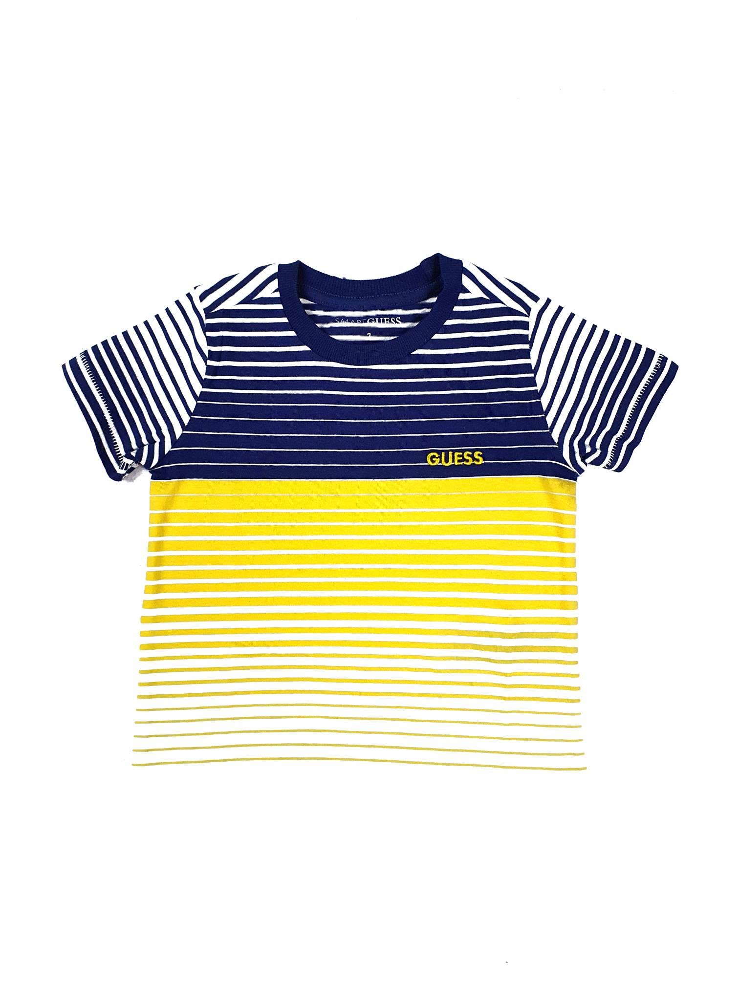 T-SHIRT CON RIGHE GIALLE E BLU GUESS kids   T-shirt   N1GI20KAMG0ST28