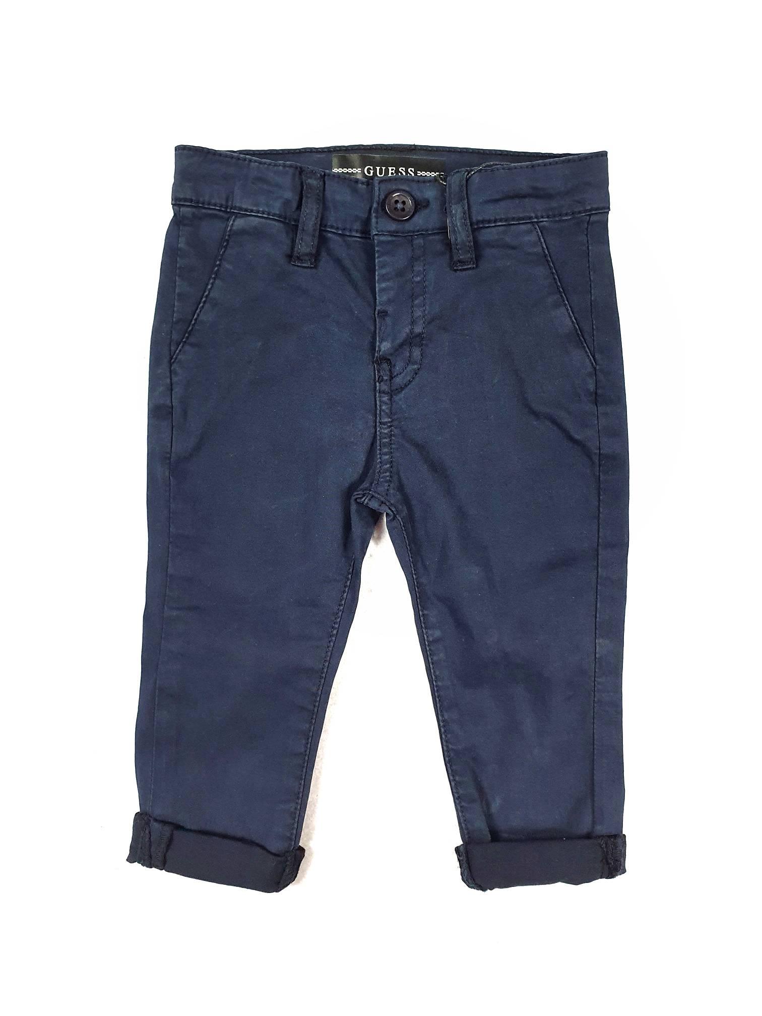 PANTALONE MODELLO CHINOS BLU GUESS kids   Pantaloni   N1RB06WD3T0DEKB