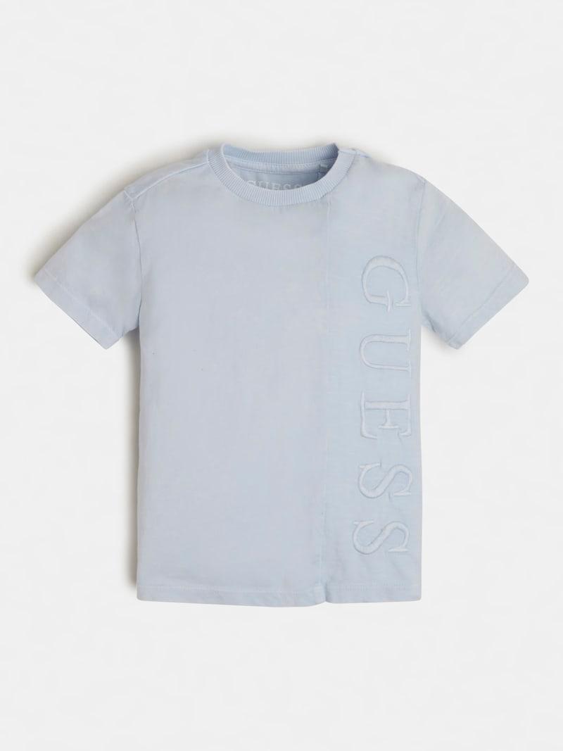 T-SHIRT AZZURRA SCRITTA RICAMATA FRONTALE GUESS kids   T-shirt   N1RI22K8HM0AZZURRO