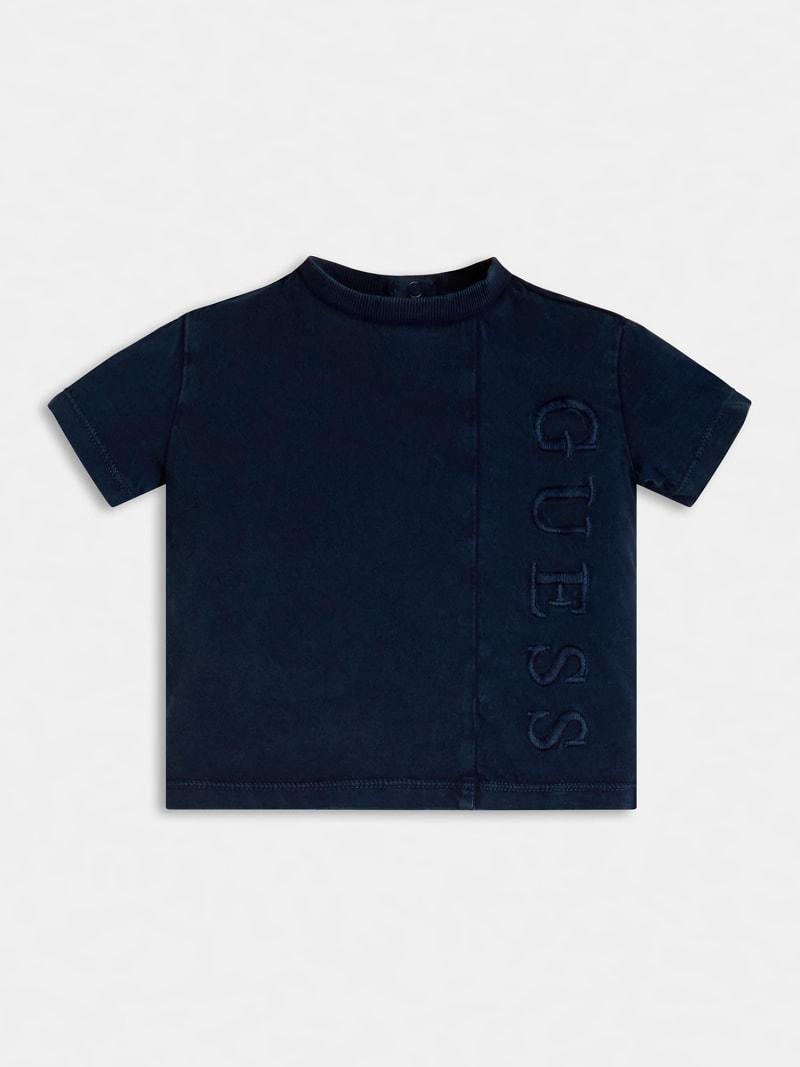 T-SHIRT BLU SCRITTA RICAMATA FRONTALE GUESS kids | T-shirt | N1RI22K8HM0BLU
