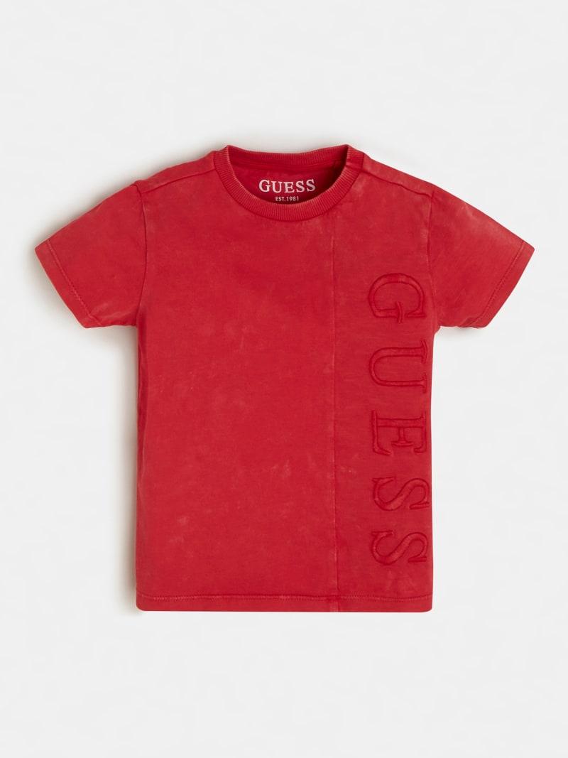 T-SHIRT ROSSA SCRITTA RICAMATA FRONTALE GUESS kids | T-shirt | N1RI22K8HM0RED