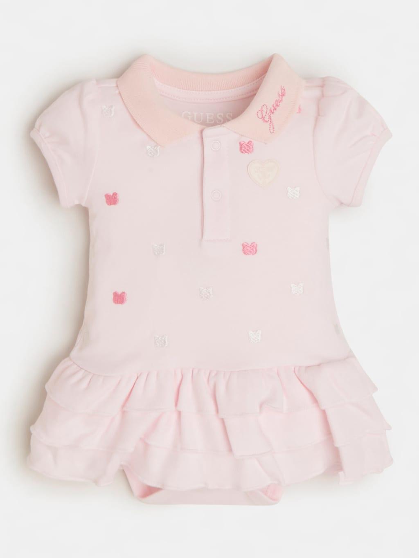 pagliaccetto rosa in cotone con cuori GUESS kids | Tutine | S1RG09KA6W0GBMT