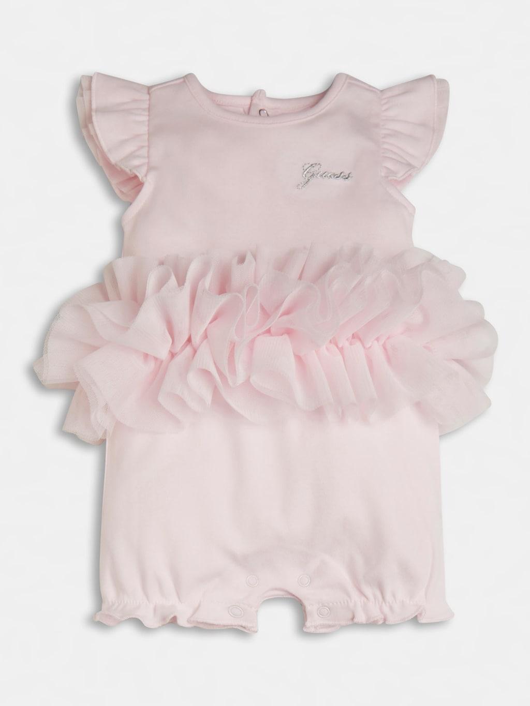 pagliaccetto in cotone rosa e applì tulle GUESS kids | Tutine | S1RG12KA6W0G6A5