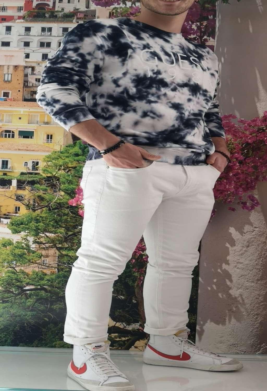 Pantalone bianco guess GUESS man   Pantaloni   M1GA27D4CK1WHITE