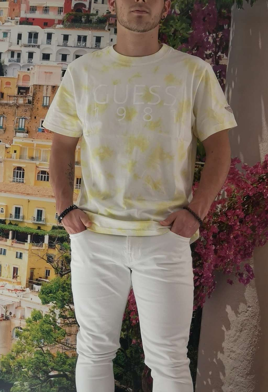 T-shirt gialla guess GUESS man | T-shirt | M1RI62K8FQ0GIALLO