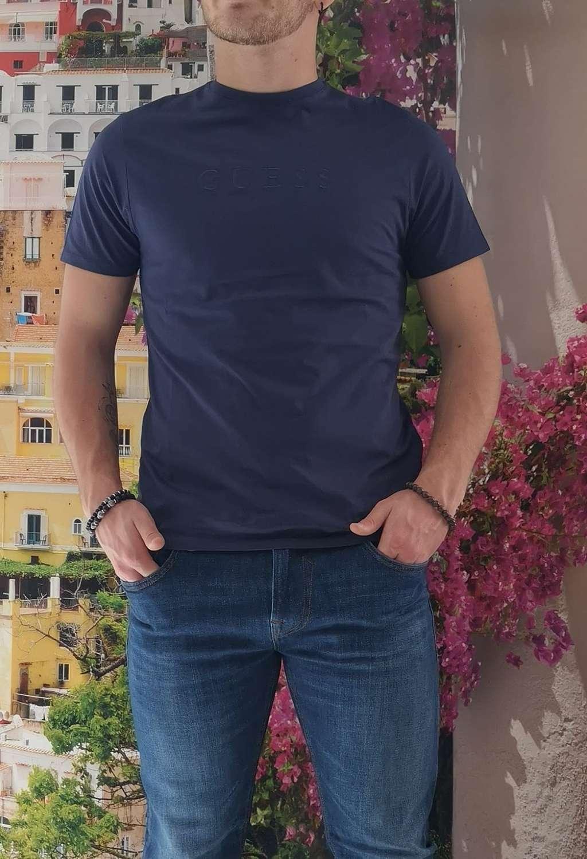 T-shirt blu guess GUESS man   T-shirt   M82P64R7HD0BLU