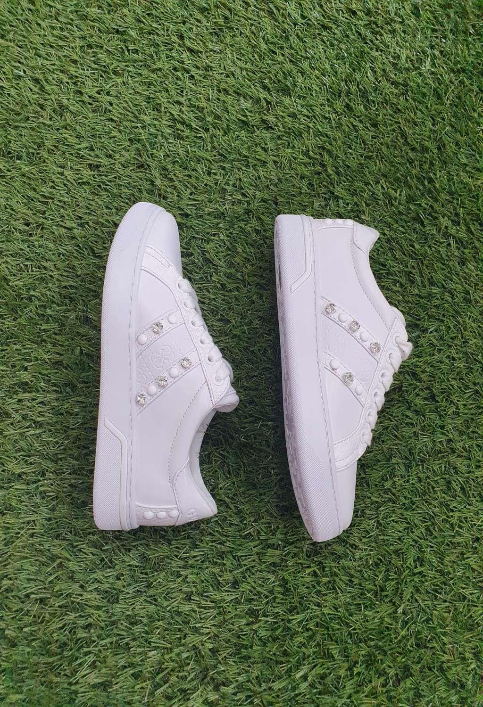 Sneaker bianca guess GUESS SCARPE | Scarpe | FL6RICPEL12BIANCO