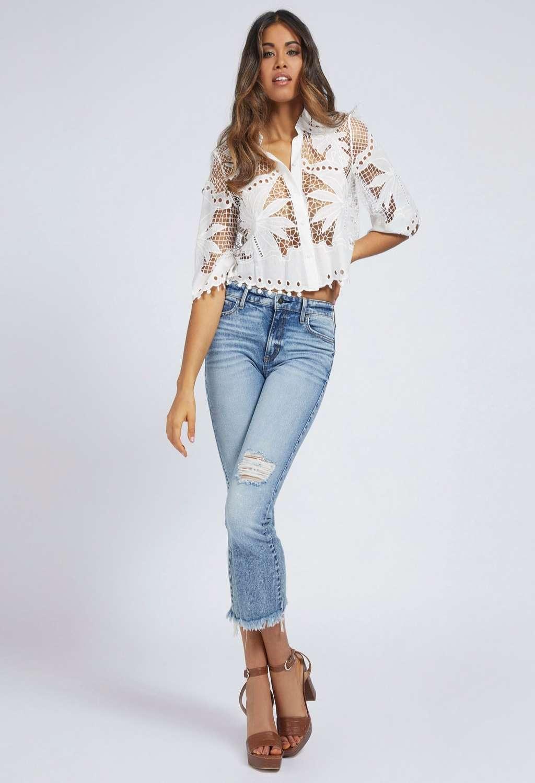 CAMICIA BIANCA GUESS GUESS   Camicie   W1GH0DWDW20WHITE