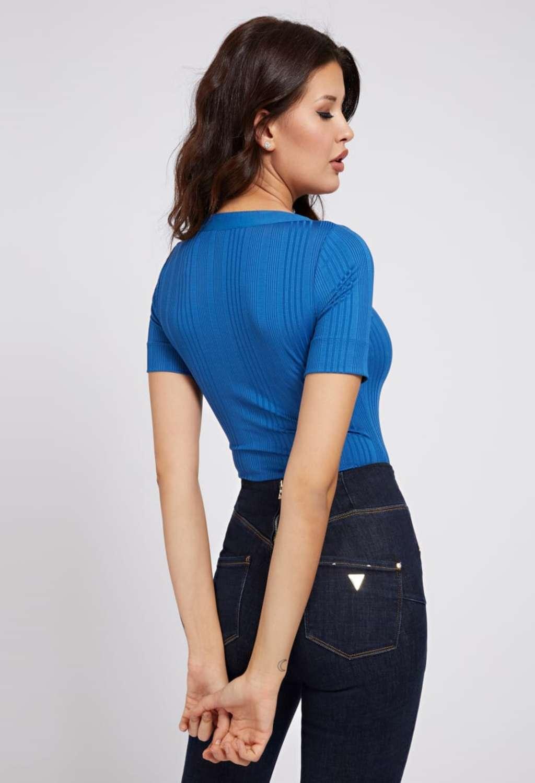 T-SHIRT MANICA LUNGA BLU GUESS | T-shirt | W1GP83KAF42SABBIA