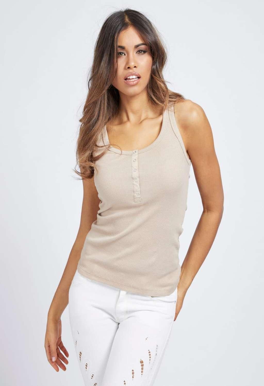 Canotta beige guess GUESS   T-shirt   W1GP84KAOU0BEIGE