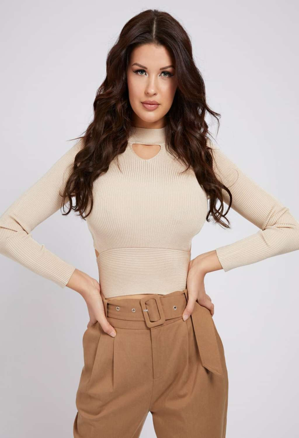 TOP BEIGE A COSTINE GUESS GUESS   Top   W1GR17Z2NH0LATTE