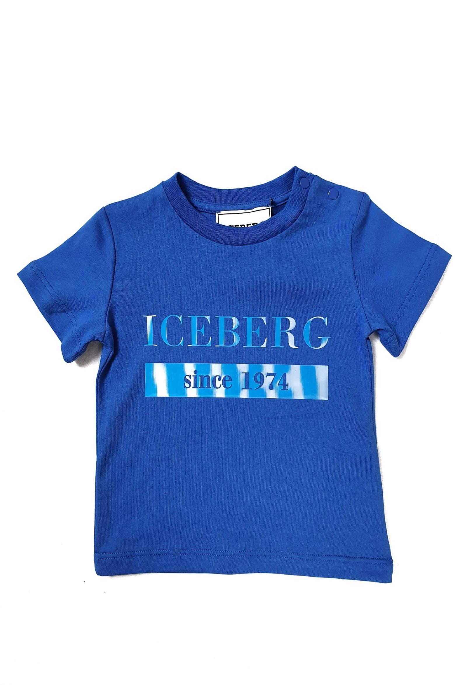 T-SHIRT BLUETTE CON LOGO REFLEX iceberg | T-shirt | TSICE1117BUNI