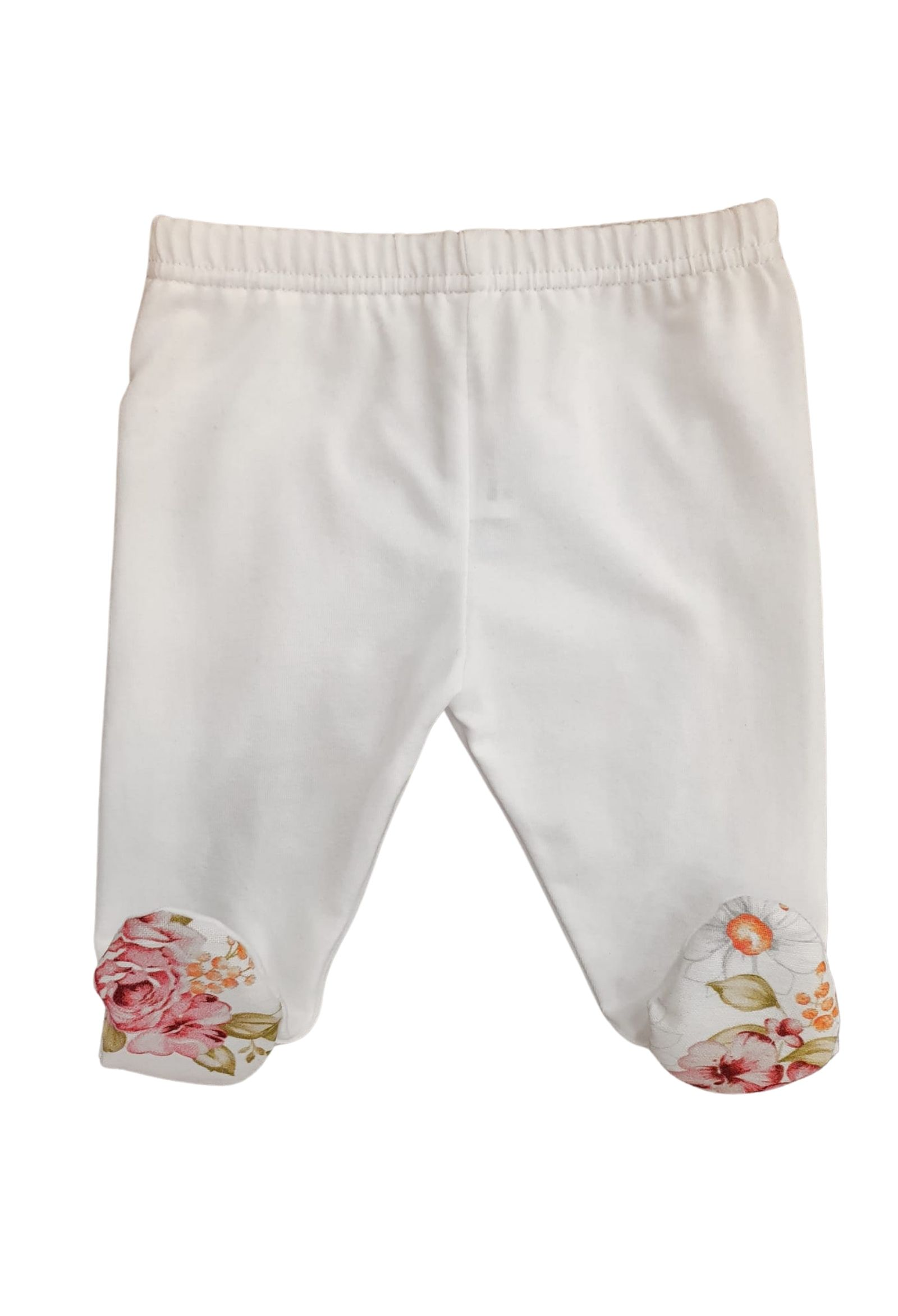 tutina due pezzi in cotone fantasia fiori juju bebe   Tutine   210615UNI