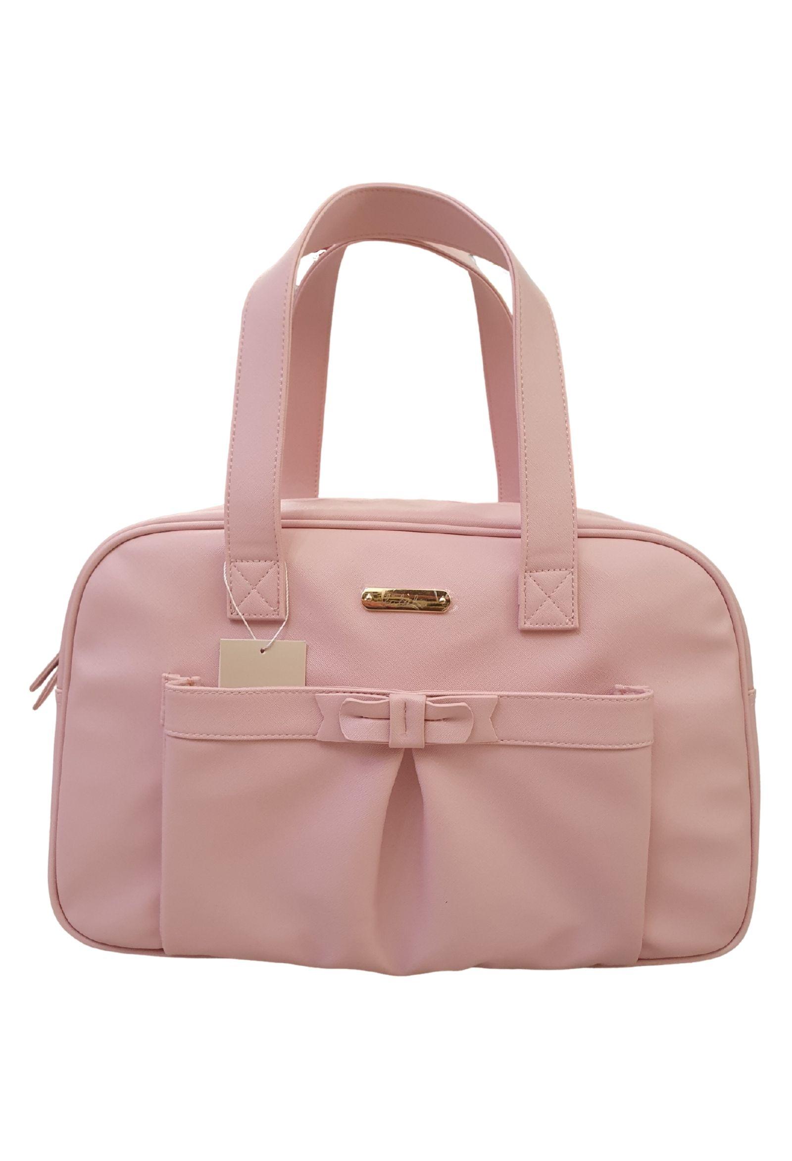 borsa nascita in pelle rosa multitasche e tracolla lalalu   Borse   BNL02UNI