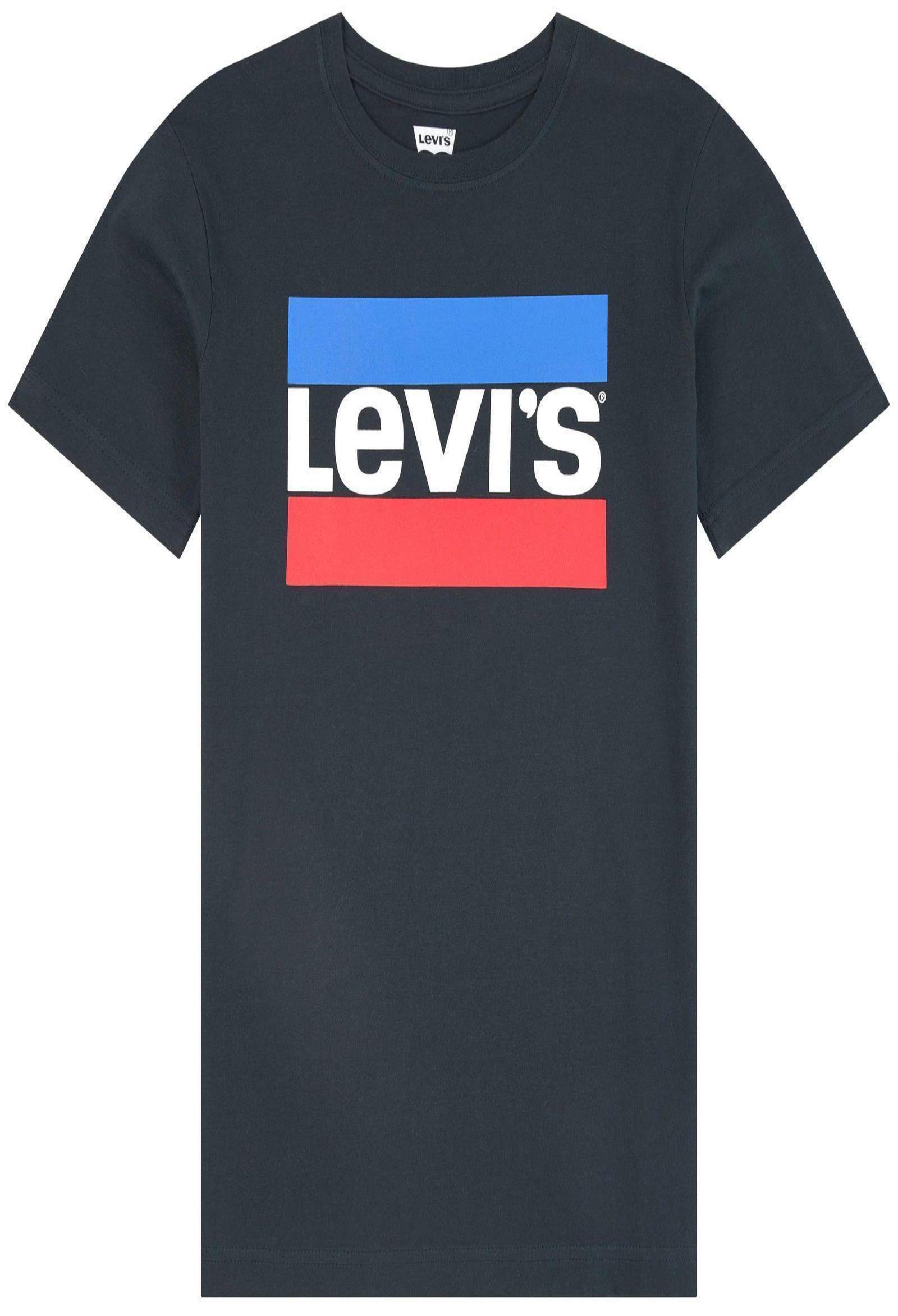 t-shirt nera mezza manica con logo stampato frontale levis | T-shirt | 9E8568UNI