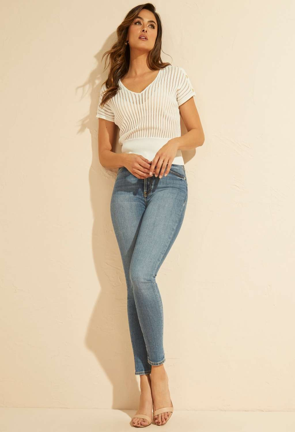 TOP BIANCO MARCIANO marciano guess   Top   1GG5075641TWHT