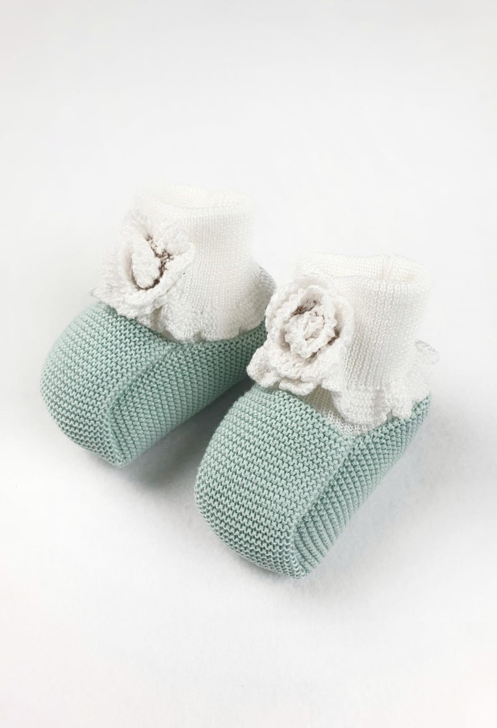 scarpe modello calzino verde salvia e bianche marlu | Scarpe | ES10SSALVIA