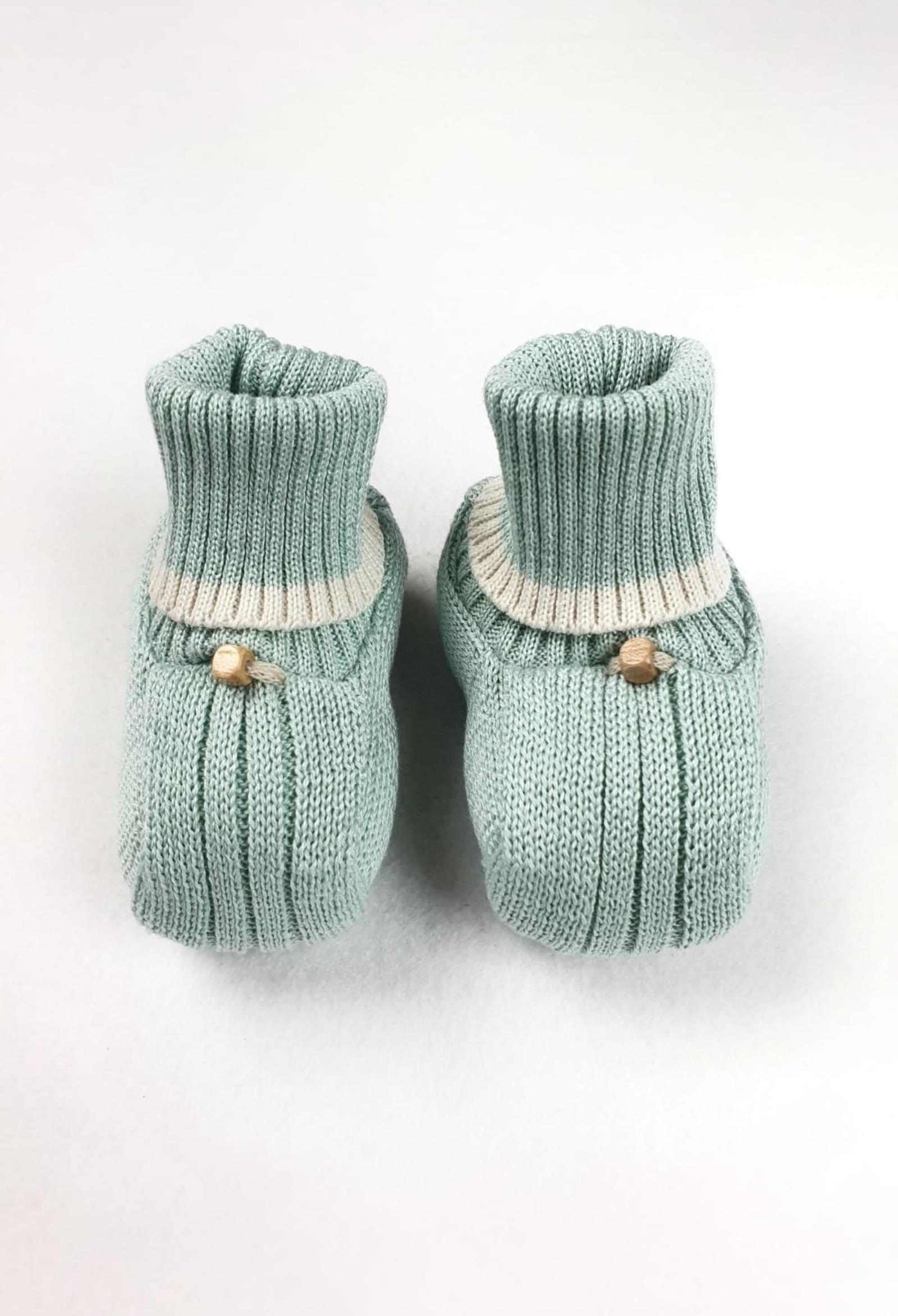 scarpe in cotone verde salvia marlu | Scarpe | ES52SUNI