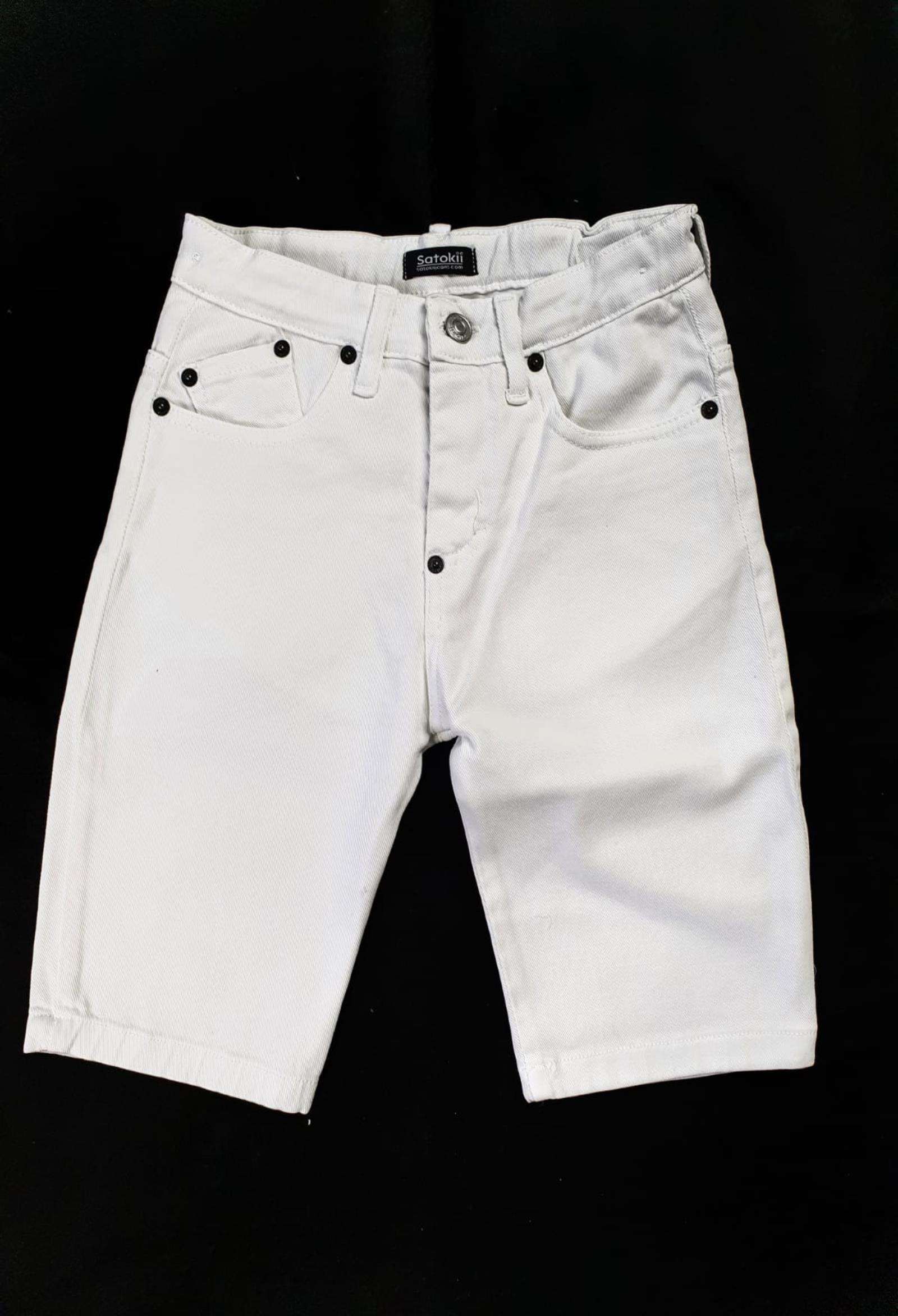 short in denim 5 tasche bianco satokii   Pantaloni   BE ZERO 2BIANCO