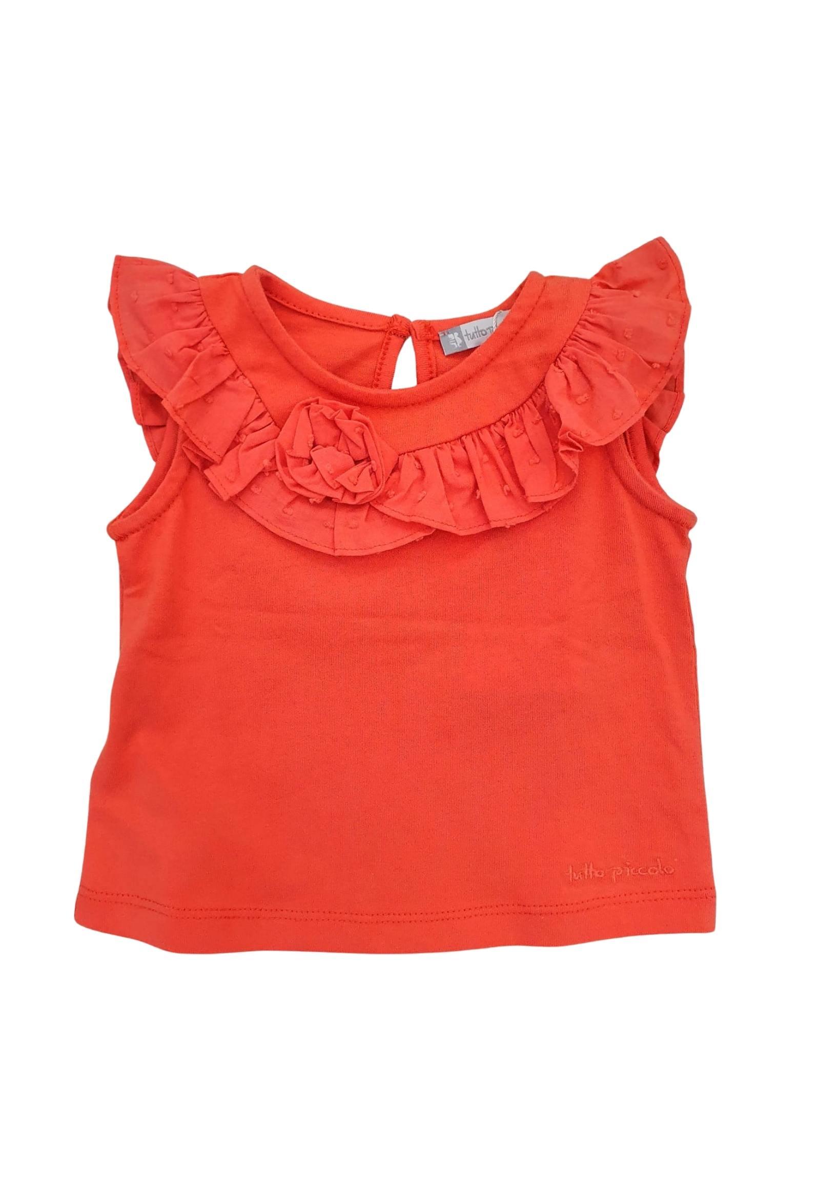 top in cotone corallo tutto piccolo   T-shirt   1640UNI