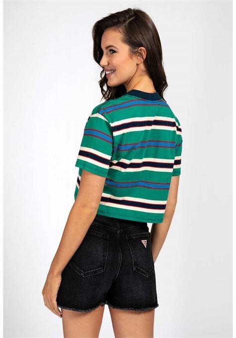 T-shirt rigata verde guess GUESS | T-shirt | WOBI38R9XF2VERDE