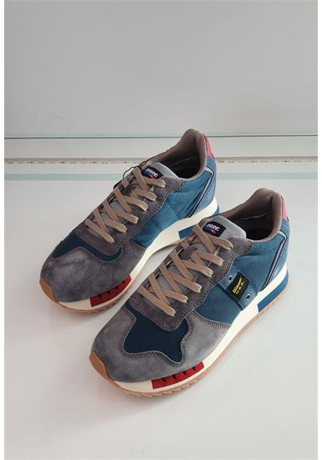 sneaker grigia e blu blauer.shoes | Scarpe | QUEENS01NAVY