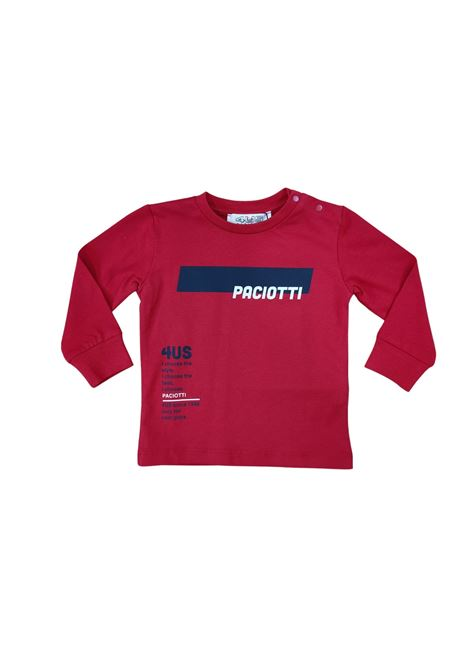cesare paciotti | T-shirt | TSP2344BROSSO