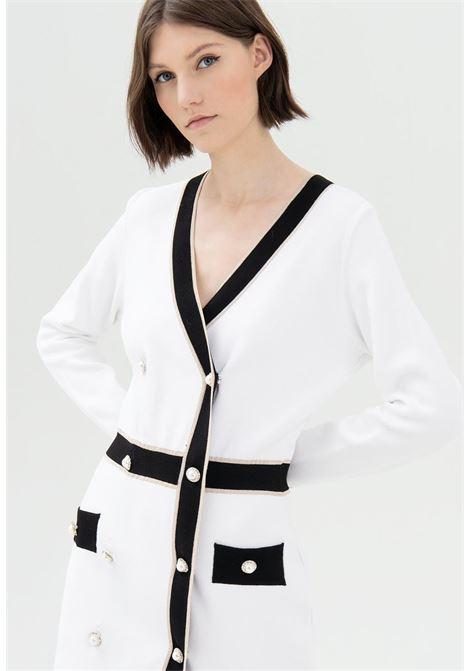 abito bianco e nero fracomina | Abiti | D5008K42101PANNA