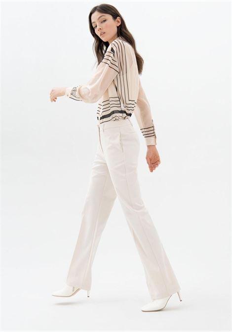 pantalone panna fracomina | Pantaloni | V3001W50001CREMA