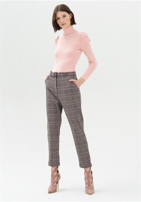 pantalone a quadretti rosa fracomina   Pantaloni   V4004O41695CIPRIA