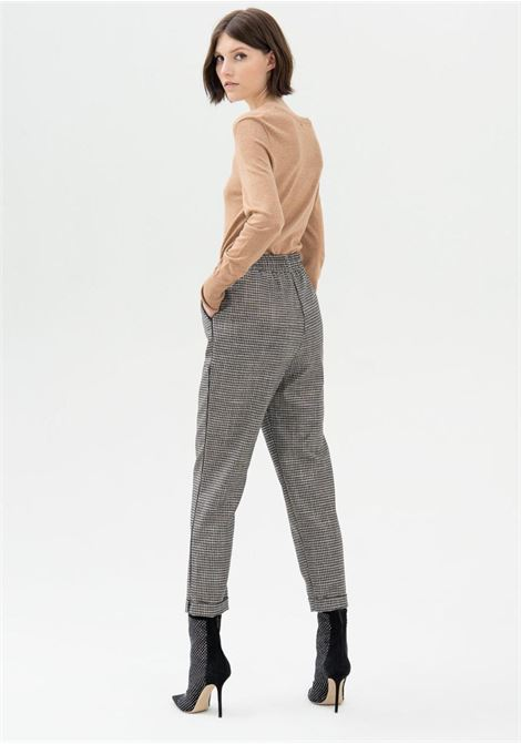 pantalone grigio a quadretti fracomina   Pantaloni   V4006W45995GREY