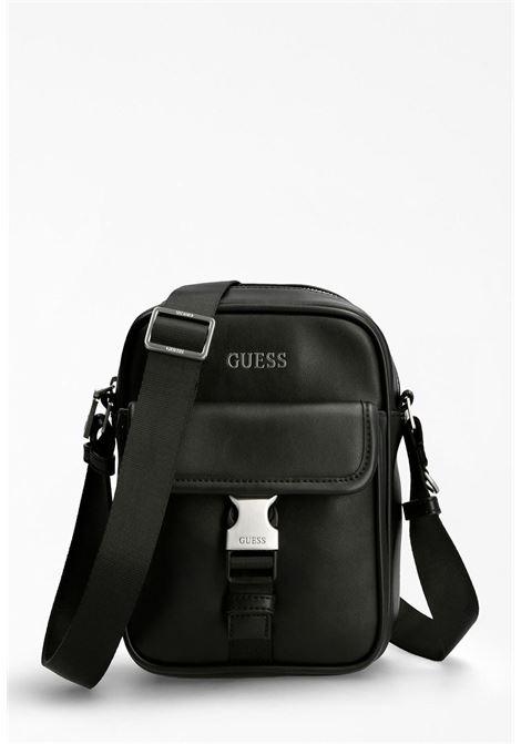 mini-borsello nero GUESS borse man | Borse | SCLAP1359NERO