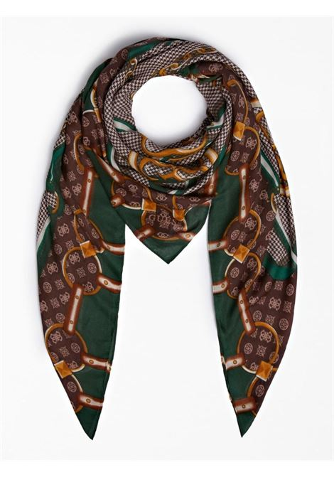 foulard marrone e verde GUESS borse | Foulard | AW8676GRIGIO