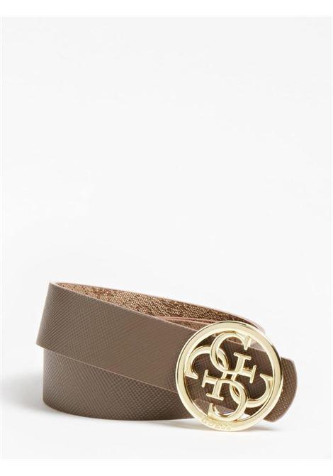 cinta reversibile beige GUESS borse | Cinture | BW7532LATTE
