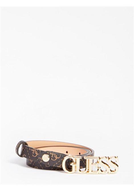 cinta sottile logata marrone GUESS borse   Cinture   BW7537BROWN