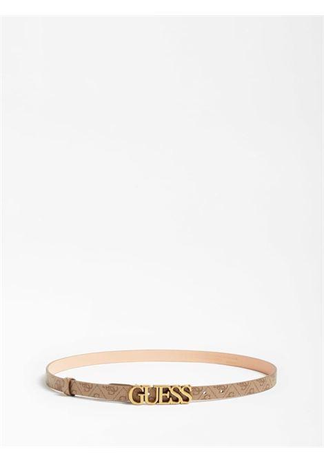 cinta sottile logata beige GUESS borse   Cinture   BW7537LATTE