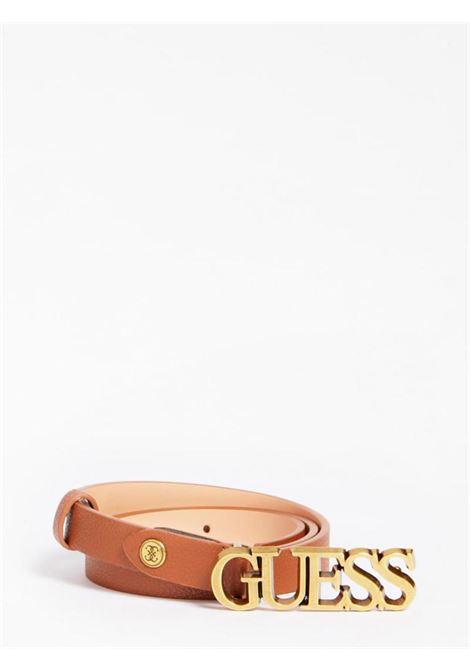 cinta sottile cuoio GUESS borse | Cinture | BW7538COGNAC