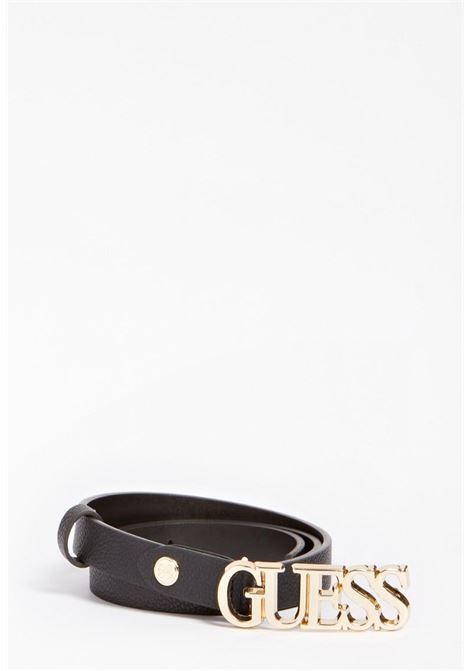 cinta sottile nera GUESS borse | Cinture | BW7538NERO
