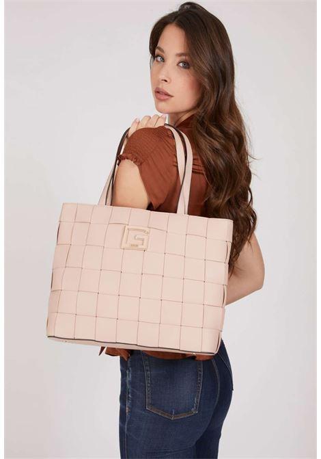 Maxi-borsa intrecciata rosa guess GUESS borse | Borse | EG8135230ALMOND
