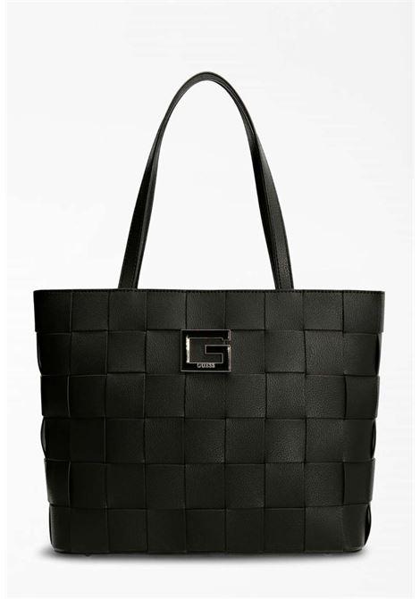 Maxi-borsa intrecciato nero GUESS borse | Borse | EG8135230NERO
