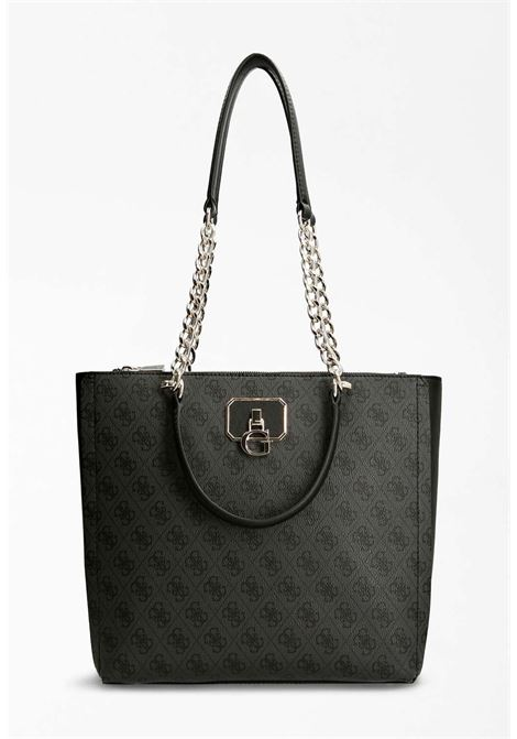Shopper logata nera e grigia GUESS borse | Borse | SG8123230COAL