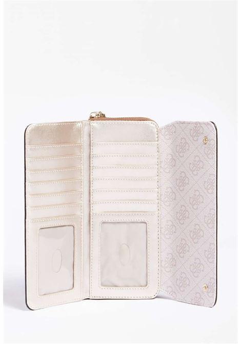 maxi-portafoglio logato rosa GUESS borse | Portafogli | SG8123620LATTE