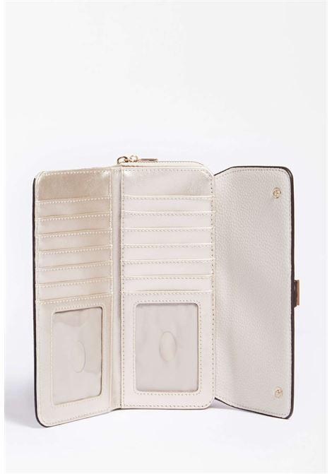 maxi-portafoglio bianco GUESS borse | Portafogli | VS8131620STONE