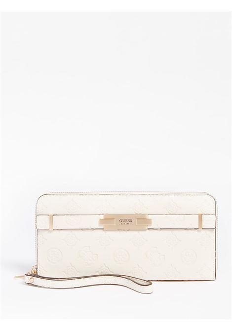 portafoglio inciso panna GUESS borse | Portafogli | VS8132460STONE