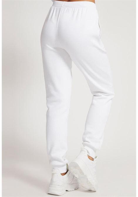 pantalone di tuta bianco GUESS fitness   Pantaloni   O1BA01K9V31G011