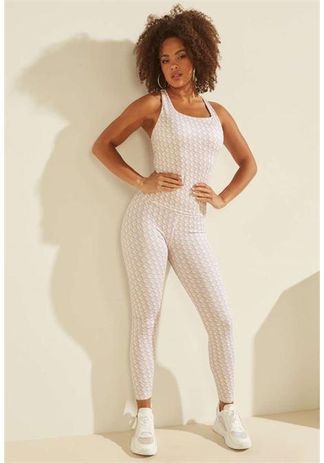 Leggings logato beige GUESS fitness | Pantaloni | O1BA24MC03WP17L