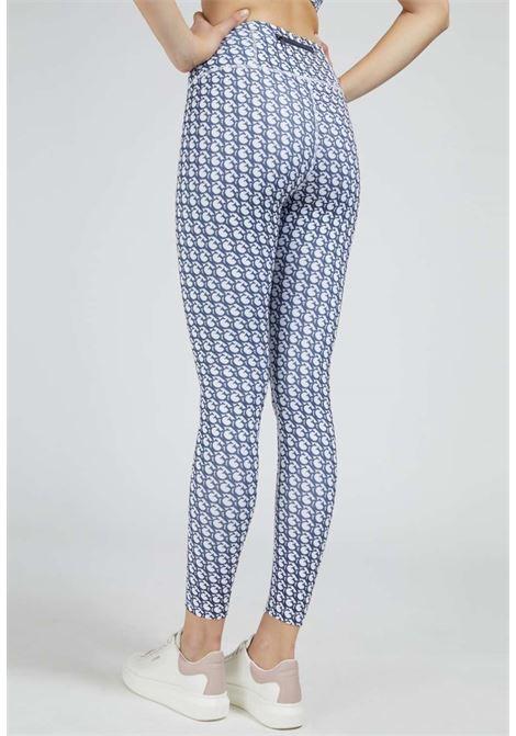 Leggings logato blu GUESS fitness | Pantaloni | O1BA24MC03WP71P