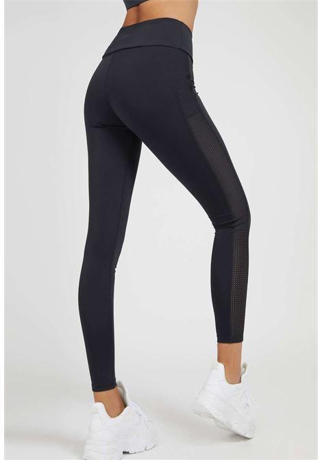 Leggings nero GUESS fitness | Pantaloni | O1YA28MC049BLU